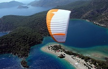 Paragliding Over Blue Lagoon